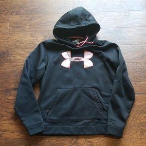 Under Armour Black/pink camo Sweatshirt Medium